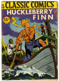Golden Age (1938-1955):Classics Illustrated, Classic Comics #19 Huckleberry Finn - Second Nassau BulletinEdition (Elliot, 1944) Condition: VG....