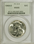 Kennedy Half Dollars: , 1969-D 50C MS65 PCGS. PCGS Population (226/93). NGC Census:(255/86). Mintage: 129,881,800. Numismedia Wsl. Price for NGC/P...