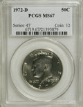Kennedy Half Dollars: , 1972-D 50C MS67 PCGS. PCGS Population (76/0). NGC Census: (16/0).Mintage: 141,890,000. Numismedia Wsl. Price for NGC/PCGS ...