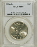 Kennedy Half Dollars, 2006-D 50C Kennedy MS67 PCGS. PCGS Population (58/0). NumismediaWsl. Price for NGC/PCGS coin in MS67: ...