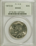 Kennedy Half Dollars: , 1972-D 50C MS66 PCGS. PCGS Population (271/76). NGC Census:(77/16). Mintage: 141,890,000. Numismedia Wsl. Price for NGC/PC...
