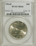 Kennedy Half Dollars: , 1994-P 50C MS66 PCGS. PCGS Population (275/146). NGC Census:(150/52). Mintage: 23,718,000. Numismedia Wsl. Price for NGC/P...