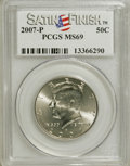 Kennedy Half Dollars, 2007-P 50C Satin Finish MS69 PCGS. PCGS Population (155/0). NGCCensus: (0/0). (#149531)...