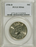 Kennedy Half Dollars: , 1998-D 50C MS66 PCGS. PCGS Population (122/72). NGC Census:(43/10). Mintage: 15,064,000. Numismedia Wsl. Price for NGC/PCG...