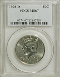 Kennedy Half Dollars: , 1998-D 50C MS67 PCGS. PCGS Population (70/2). NGC Census: (10/0).Mintage: 15,064,000. Numismedia Wsl. Price for NGC/PCGS c...