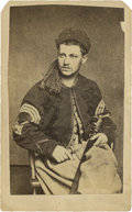 Military & Patriotic:Civil War, Nice Civil War CDV Portrait of a Pennsylvania Zouave Sergeant....