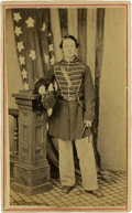 Military & Patriotic:Civil War, CDV Portrait of a Young Federal Drummer, S. Minott Crane, Co. K, 43d Massachusetts Inf., Pencil ID on verso....