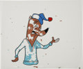 Animation Art:Production Drawing, Sleepy Fox Animation Production Cel with Matching Drawing OriginalArt (undated).... (Total: 2 Items)