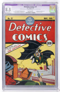 Golden Age (1938-1955):Superhero, Detective Comics #27 (DC, 1939) CGC Apparent VF+ 8.5 Extensive (P) Off-white pages....