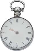 Timepieces:Pocket (pre 1900) , Bullingford London Verge Fusee, circa 1835. ...