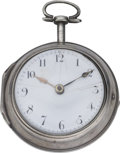 Timepieces:Pocket (pre 1900) , James Dawes London Early Verge Fusee, circa 1780. ...