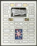 Autographs:Others, 1951 New York Yankees Team Signed Display....