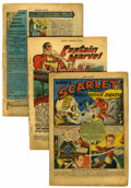 Golden Age (1938-1955):Miscellaneous, Fawcett Golden Age Group (Fawcett, 1941-48) Condition: Coverless.... (Total: 7 Comic Books)