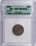 Early Dimes: , 1803 10C --Holed--ICG. FR2 Details. NGC Census: (0/32). PCGSPopulation (1/42). Mintage: 33,040. Numismedia Wsl. Price for N...