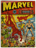 Memorabilia:Comic-Related, Marvel Mystery Comics #25 Cover Wrap (Timely, 1941)....