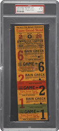 Baseball Collectibles:Tickets, 1924 World Series Games 1, 2 & 6 Full Ticket....