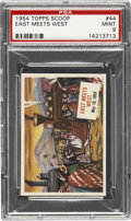"Non-Sport Cards:General, 1954 Topps Scoop ""East Meets West"" PSA Mint 9...."