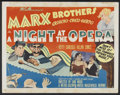 "Movie Posters:Comedy, A Night at the Opera (MGM, R-1948). Half Sheet (22"" X 28"") Style B.Comedy...."
