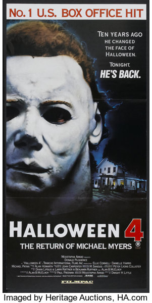 fa98342a Movie Posters:Horror, Halloween 4: The Return of Michael Myers (Filmpac,