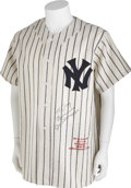 Autographs:Others, 1980's Joe DiMaggio Signed Jersey....