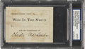 Autographs:Others, 1910 Christy Mathewson Signed Book Plate. ...