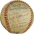 Autographs:Baseballs, 1947 Cincinnati Reds Team Signed Baseball. ...