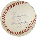 "Autographs:Baseballs, Harry Caray ""Holy Cow!"" Single Signed Baseball...."
