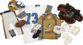 Football Collectibles:Uniforms, 1985 USFL Oakland Invaders Full Uniform & More Package....