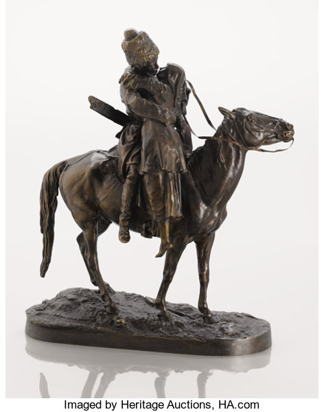 A russian bronze group of the cossacks farewell cast from a lot fine art sculpture europeanantique pre 1900 a russian bronze m4hsunfo