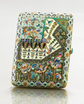 Decorative Arts, Continental:Other , A SILVER GILT AND CLOISONNÉ ENAMEL CIGARETTE CASE. Makerunidentified, Moscow, Russia, 1908-1917. Marks: (delta) 84(rig...