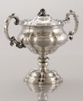 Decorative Arts, Continental:Other , A SILVER AND SILVER GILT COVERED STANDING CUP. Maker unidentified,St. Petersburg, Russia, 1848. Marks: AT over 1848,...