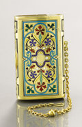 Silver Smalls:Cigarette Cases, A RUSSIAN SILVER GILT AND ENAMEL CIGARETTE CASE. Unidentifiedmaker, St. Petersburg, Russia, circa 1900. Marks: KA,(St....