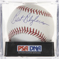 Autographs:Baseballs, Bert Blyleven Single Signed Baseball PSA Mint 9....