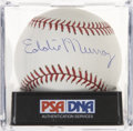 Autographs:Baseballs, Eddie Murray Single Singed Baseball PSA Mint 9....