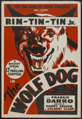 "Movie Posters:Serial, The Wolf Dog (Mascot, 1933). Stock One Sheet (28"" X 41"").Serial...."