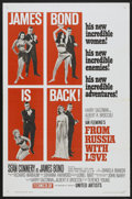 "Movie Posters:James Bond, From Russia with Love (United Artists, 1964). One Sheet (27"" X 41"")Style B Flat-Folded. James Bond...."