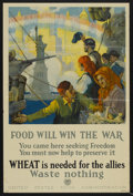 "Movie Posters:War, War Propaganda Poster (U.S. Food Administration, Circa 1910s).World War I Poster (20"" X 30"") ""Food Will Win the War"". War...."