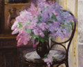 Fine Art - Painting, Russian:Contemporary (1950 to present), NICOLAI IGNATOV (Russian, 20th Century). Lilacs, 1979. Oilon canvas. 30 x 37 inches (76.2 x 94.0 cm). Inscribed verso i...