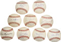 Autographs:Baseballs, Stars Single Signed Baseballs Lot of 9.... (Total: 10 items)