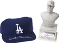 Autographs:Others, Duke Snider Signed Hat And Signed Mini Bust, Lot of 2.... (Total: 2items)
