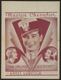 "The Smiling Lieutenant Lot (Paramount, 1931). Heralds (4) (9.25"" X 14""). Romance.... (Total: 4 Items)"