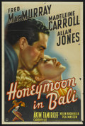 """Movie Posters:Comedy, Honeymoon in Bali (Paramount, 1939). One Sheet (27"""" X 41""""). Comedy...."""