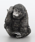 Silver Smalls:Other , AN ITALIAN SILVER FIGURE OF A MONKEY. Mario Buccellati, Rome,Italy, 20th century. Marks: BUCCELLATI. 3-3/4 inches high...