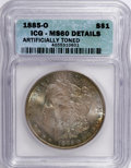 1885-O $1 --Artificially Toned--ICG. MS60 Details. NGC Census: (39/122844). PCGS Population (85/103480). Mintage: 9,185...