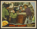 "Movie Posters:Western, Home in Wyomin' (Republic, 1942). Lobby Card (11"" X 14""). Western...."