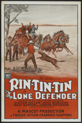 "Movie Posters:Western, The Lone Defender (Mascot, 1930). One Sheet (27"" X 41"").Western...."