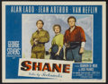"Movie Posters:Western, Shane (Paramount, 1953). Lobby Cards (2) (11"" X 14""). Western....(Total: 2 Items)"