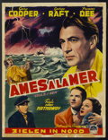 "Movie Posters:Adventure, Souls at Sea (Paramount, R-1940s). Belgian (13.75"" X 18"").Adventure...."