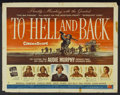 "Movie Posters:War, To Hell and Back (Universal, 1955). Half Sheet (22"" X 28"") Style B.War...."