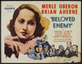 "Movie Posters:Drama, Beloved Enemy (United Artists, 1936). Half Sheet (22"" X 28""). Drama...."
